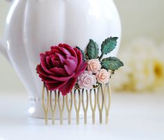 Hey, I found this really awesome Etsy listing at https://www.etsy.com/listing/150130479/purple-maroon-plum-rose-pink-rose