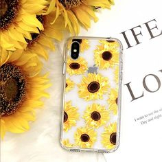 iPhone X Case, iPhone X Case for Women, MOSNOVO Floral Flower Sunflower Pattern Clear Design Transparent Plastic Hard Back Case with TPU Bumper Protective Case Cover for iPhone X / iPhone 10 Iphone Cases For Girls, Cool Iphone Cases, Cute Phone Cases, Diy Phone Case, Iphone Phone Cases, Cell Phone Covers, Iphone 7, Coque Iphone, Disney Diy