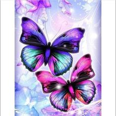 Butterfly Painting Square Drill Mosaic Resin Rhinestone Home Decor Inked DIY 5D