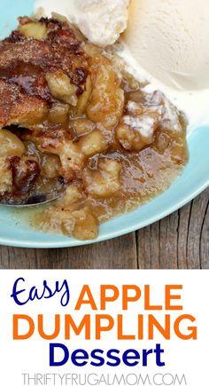 Easy Apple Dumpling Dessert - it's like apple dumplings but easier! Easy Apple Dumpling Dessert - it's like apple dumplings but easier! Apple Dessert Recipes, Apple Recipes, Easy Desserts, Fall Recipes, Delicious Desserts, Apple Deserts Easy, Health Desserts, Fruit Recipes, Easy Apple Dumplings