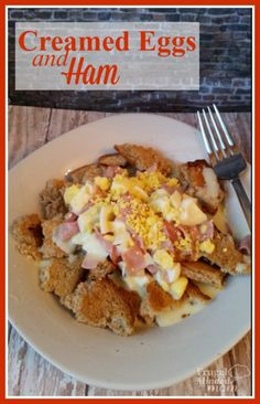 Intimidated by cream sauces. I was and they kept me from making one of my favorite dishes for years. But guess what they are super easy and this Creamed Eggs and Ham Recipe is not only easy, but frugal too.