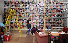 Awesome design! -> vinyl canteen, vinyl wall, morag myerscough  - designboom | architecture & design magazine
