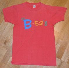 THE vintage concert tour t-shirt (XL) Rare New-Wave Rock Vintage Rock T Shirts, Vintage Band Tees, New Bands, Cool Bands, Concert Shirts, Tee Shirts, B 52s, Wave Rock, Tour T Shirts