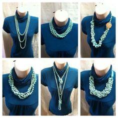 So many ways to wear Premier Designs Seabreeze necklace!