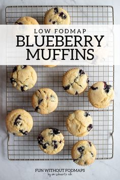 Enjoy these warm, fluffy low FODMAP blueberry muffins for breakfast or dessert. They're made with just 9 ingredients including low FODMAP amounts of blueberries, gluten-free flour, and almond milk. #lowfodmap #muffin #snack #dairyfree Fodmap Breakfast, Breakfast Recipes, Snack Recipes, Dessert Recipes, Desserts, Fodmap Recipes, Dairy Free Recipes, Gluten Free, Fodmap Diet