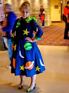 Costume ideas for women can come from anywhere, including children's television. One example is Ms. Frizzle from The Magic School Bus.