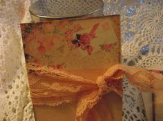 Note Cards Writing Cards Shabby Chic Tied With Ribbon by mslizz