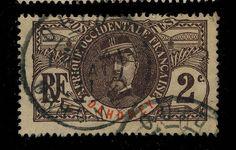 DAHOMEY - 1911 - CACHET À DATE DE OUIDAH SUR 2c FAIDHERBE