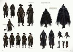 In the terrifying video game Bloodborne, deranged mobs and nightmarish creatures lurk around every corner of a horror-filled gothic city. Bloodborne: Official A Bloodborne Concept Art, Bloodborne Art, Bloodborne Outfits, Game Concept Art, Character Concept, Character Art, Character Profile, Dark Fantasy, Fantasy Art