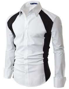 Mens Casual Line Point Slim Dress shirt (EL19)