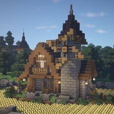Minecraft Modern House Blueprints, Minecraft Medieval House, Minecraft Castle, Minecraft Plans, Minecraft Survival, Cool Minecraft Houses, Minecraft Buildings, Minecraft House Tutorials, Minecraft House Designs