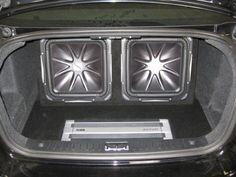 Custom car audio system in a Volvo