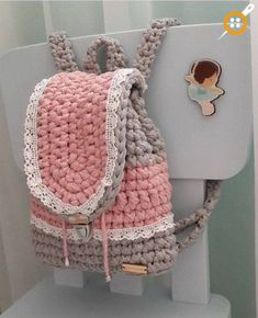 """New Cheap Bags. The location where building and construction meets style, beaded crochet is the act of using beads to decorate crocheted products. """"Crochet"""" is derived fro Mochila Crochet, Bag Crochet, Crochet Clutch, Crochet Handbags, Crochet Purses, Love Crochet, Crochet Crafts, Crochet Projects, Crochet Backpack Pattern"""