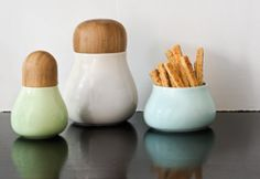 Pastel Idea Mano lågkrukker via Kahler Jar Storage, Kobe, Tablescapes, Interior Design, Kitchen, Ss, Pastel, Interiors, Decoration