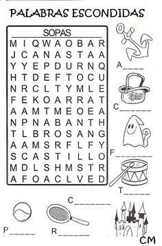 Crucigramas y sopas de letras para niños de primaria para imprimir ... a6405efcf3d
