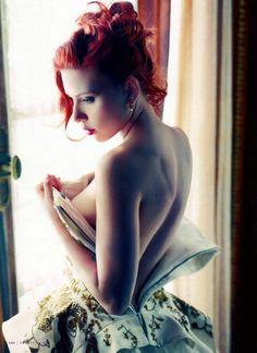 Scarlett Johansson by Mario Sorrenti for Vanity Fair, December 2011.