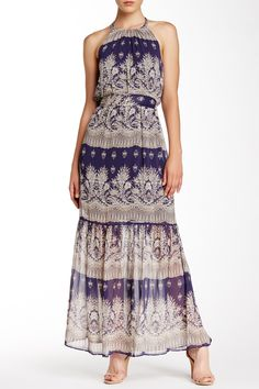 Jessica Simpson   Printed Halter Maxi Dress   Nordstrom Rack