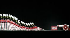 85 Years of Amazing Rockettes Costumes: Falling toy soldiers.