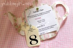 Gold Shoe Girl: Little Girl's Birthday Tea Party