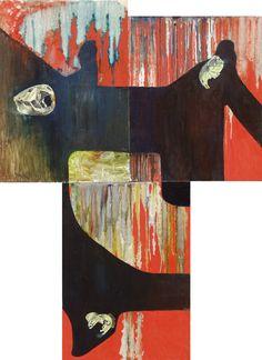 Oilpainting by Lévay Máté #oil #painting #oilpainting #skull #flow #beaver