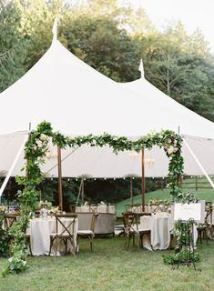 A Beautiful Bohemian Wedding in Washington State - Over The Moon Marquee Wedding, Tent Wedding, Green Wedding, Wedding Ceremony, Wedding Flowers, Wedding Tent Decorations, Cool Tents, Relaxed Wedding, Wedding Weekend