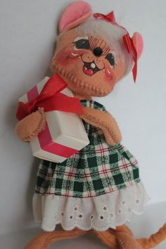Annalee Doll Christmas Mouse with a Present  by TalesofTime, $23.00