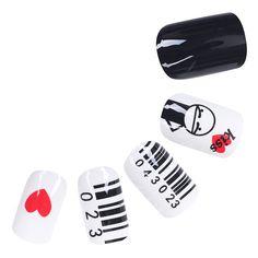 24pcs Medium Full False Nails Finger Manicure Artificial Nail Art Tips CB01-014 #Unbranded
