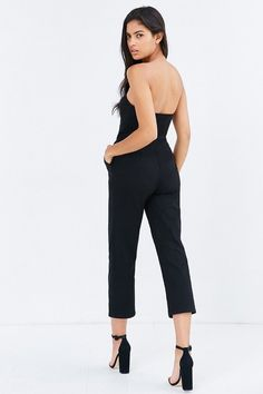 Silence + Noise Knit Strapless Jumpsuit. Click the link to shop right now! #urbanoutfitters #2016 #fashion #shop
