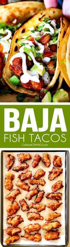 these Crispy fried Baja Fish Tacos are BETTER than any restaurant! I can't eve. - these Crispy fried Baja Fish Tacos are BETTER than any restaurant! Fish Dishes, Mexican Dishes, Seafood Dishes, Seafood Recipes, Mexican Food Recipes, New Recipes, Cooking Recipes, Healthy Recipes, Recipies