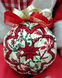 Handmade Quilted Christmas Ornament Christmas by NorthernKeepsakes