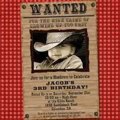 Little Buckaroo Cowboy Party Invitation and by shindigparties, $14.00