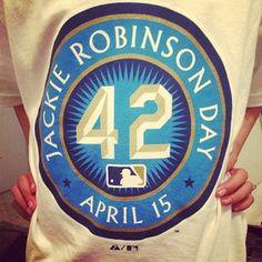 isac_acosta#JackieRobinsonDay is on April 15, my bday :) #baseball #42 #JackieRobinson #MLB