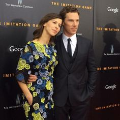 Benedict Cumberbatch and his fiancee, theater director Sophie Hunter, at the premiere of The Imitation Game in New York on 17th November, 2014.