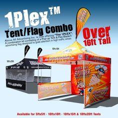 Event Tents - 1 Plex Flag, Flex Blade Flag, 1 Plex Tent Combo Event Kit