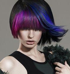 Purple blue fringe ... Sassy !