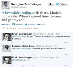 If Twitter existed during great moments in science.