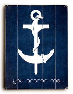 You Anchor Me Vintage Beach Sign: Beach Decor, Coastal Home Decor, Nautical Decor, Tropical Island Decor & Beach Cottage Furnishings