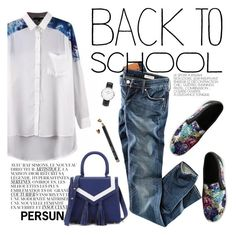 """""""back to school"""" by punnky ❤ liked on Polyvore featuring By Zoé, H&M, Bobbi Brown Cosmetics and Daniel Wellington"""
