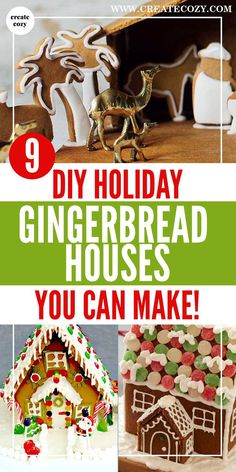 If you've been looking for some easy diy holiday gingerbread ideas and recipes for gingerbread holiday decorations then this post is for you! The best festive gingerbread house recipes with templates and decoration inspiration. There's even a no-bake log cabin and graham cracker gingerbread!