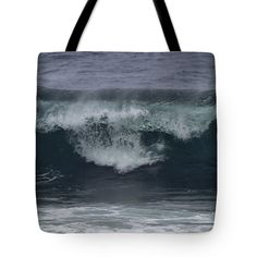 "Stormy Waves Tote Bag 18"" x 18"""