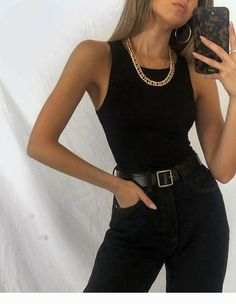 : black outfit for summer or spring wear Winter Mode Outfits, Trendy Outfits, Cute Outfits, Fashion Outfits, Womens Fashion, Fashion Ideas, Fashion Clothes, Fashion Tips, Hijab Fashion