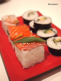 Lovely and delicious Rice Cube and sushi   www.korianteri.fi