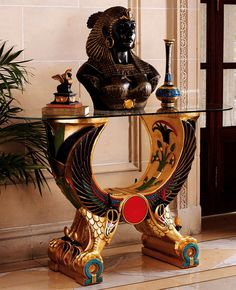 Egyptian Wings of Horus Altar Console