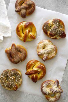 Homemade Soft Pretzels Three Ways - Food Recipes :)