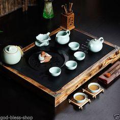 23pcs-high-grade-solid-wood-tea-tray-stone-tea-table-porcelain-tea-set-caddy-pot
