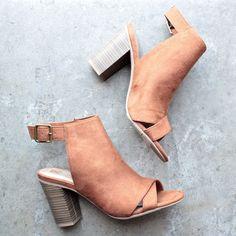 bc footwear puma peep-toe heel in whiskey