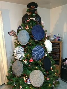 Just a few on the vintage cap tree!
