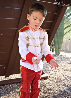 Cinderella's Prince Charming DIY Costume. No sew and SO cute