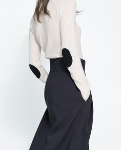 Image 5 of SWEATER WITH ELBOW PATCHES from Zara