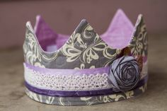 Fabric Crown / Birthday Crown  Princess Nora by saflower on Etsy, $23.00
